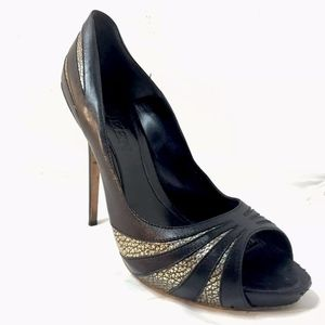 Alexander McQueen Heels Pumps Black Gold